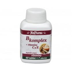 B-komplex + vitamín C + E (60+7 tabl)