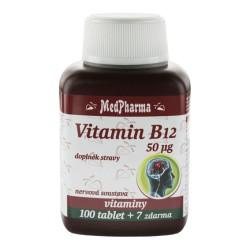 Vitamin B12 (kyanokobalamin) , 107 tablet