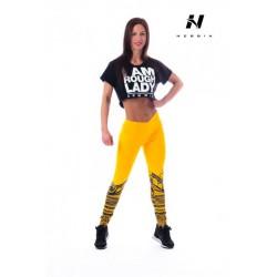Nebbia Suplex legíny tattoo 215 - žlutá