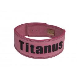 Titánus - Růžový opasek s pákovou přezkou