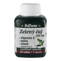 Zelený čaj 200 mg + vitamin E + selen + zinek, 67 tablet