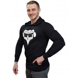 Tričko s kapucí Super Human černá