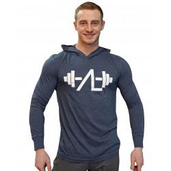 Tričko s kapucí AL modrá