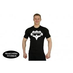 Tričko Super Human - ČERNÁ/BÍLÁ