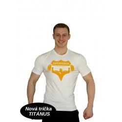 Tričko Super Human - BÍLÁ/ŽLUTÁ