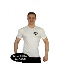 Tričko Super Human - bílá/černá