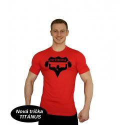 Tričko Super Human - ČERVENÁ/ČERNÁ