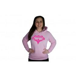 Dámská mikina Superhuman - RŮŽOVÁ / RŮŽOVÁ