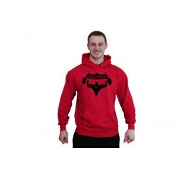 Pánská mikina Superhuman - ČERVENÁ / ČERNÁ