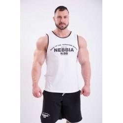 Nebbia Tílko Hardcore S Lemováním 395 bílé