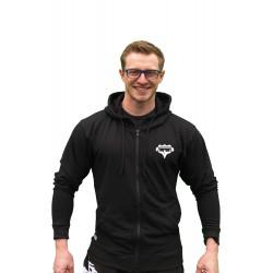 Superhuman - Mikina na zip s kapucí - černá