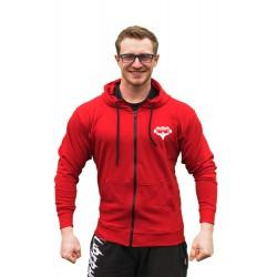 Superhuman - Mikina na zip s kapucí / červená