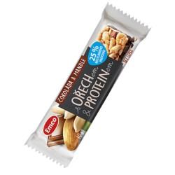 Emco tyčinka s ořechem a proteinem - čokoláda a mandle 40 g