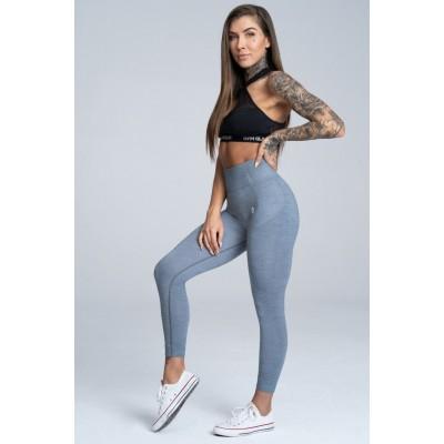 Gym Glamour Legíny Bezešvé Steel Melange - šedá