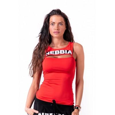 Nebbia Rib Cut Out 678 červená