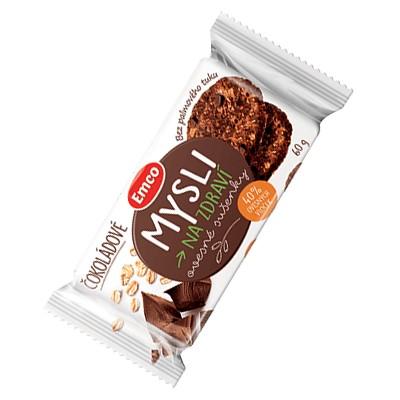 Emco Mysli na zdraví Ovesné sušenky čokoládové 60g