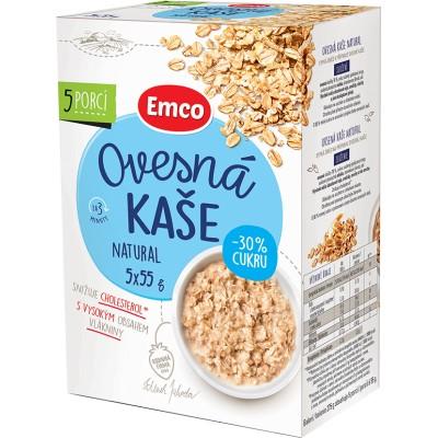 Emco Ovesná kaše natural -30% cukru 5x55 g