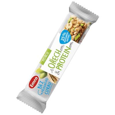 Emco Tyčinka s ořechem a proteinem pistácie 35 g