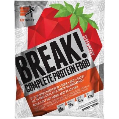 Extrifit Break! Protein Food 90 g - jahoda