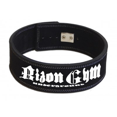 Bizon Gym - Opasek s pákovou přezkou s potiskem  black decker, černý