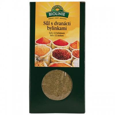 BIOLINIE sůl s 12-ti bylinkami BIO - 120 g