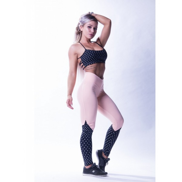 Nebbia High waist N's leggings 638 - lososová