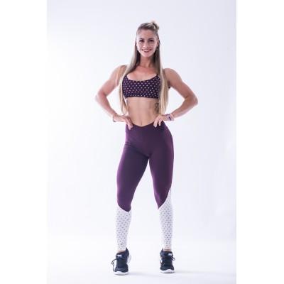 Nebbia High waist N's leggings 638 fialové