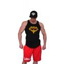 Šortky Superhuman klasické - nápis vodorovný - červená/bílá
