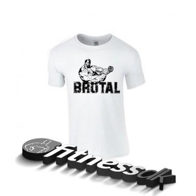 Tričko Brutal, bílé - XXL