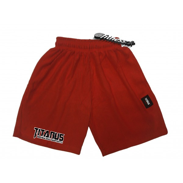TITANUS šortky s logem (červená)