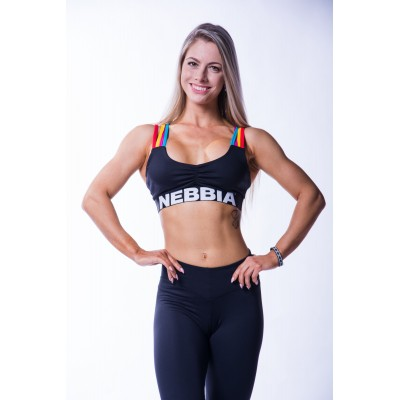 Nebbia Rainbow mini top 621  - duhová
