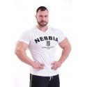 Nebbia Hardcore tričko s výšivkou 396 - bílé