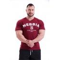 Nebbia Hardcore tričko s výšivkou 396 - červená