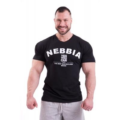 Nebbia Hardcore tričko s výšivkou 396 - černá
