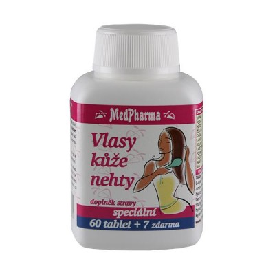 MedPharma Vlasy, kůže, nehty, 67 tablet