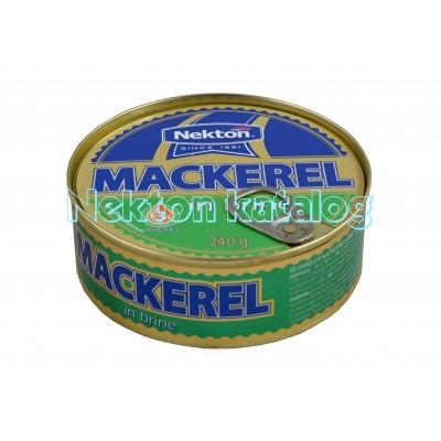 Nekton - Makrela ve vlastní šťávě s mírně slaným nálevem 240g