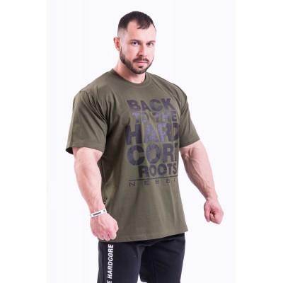 NEBBIA - HardCore tričko pánske 391 (khaki)