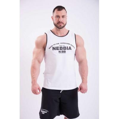 Nebbia Tílko Hardcore s lemováním 395 - bílá