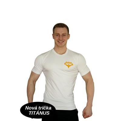 Tričko Super Human - bílá/oranžová