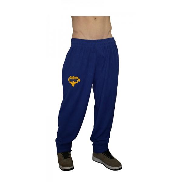 Tepláky Superhuman - modrá/žlutá