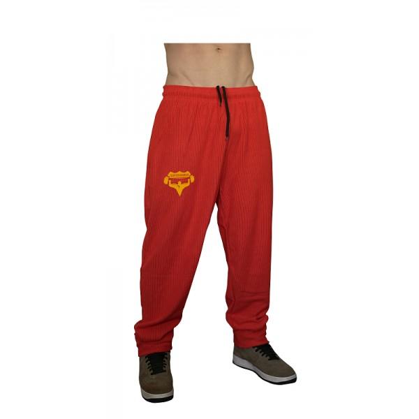 Tepláky Superhuman - červená/žlutá
