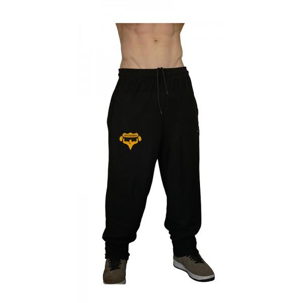 Tepláky Superhuman - černá/žlutá