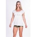 Nebbia Fitness dámské tričko 277 - bílá