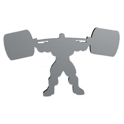 TITANUS klíčenka powerlifter s činkou