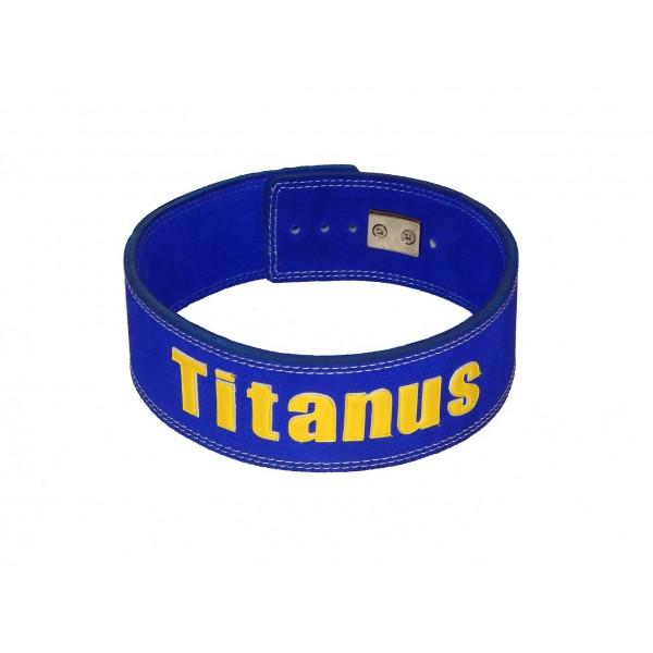 TITANUS fitness Opasek s pákovou přezkou (modrá)