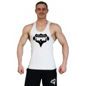 Tílko Superhuman velké logo - rovné/bílé