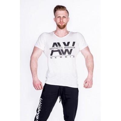 NEBBIA - Tričko pánske AW 127 (krémová)