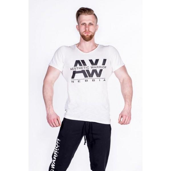 NEBBIA - Tričko pánske AW 127 - krémová