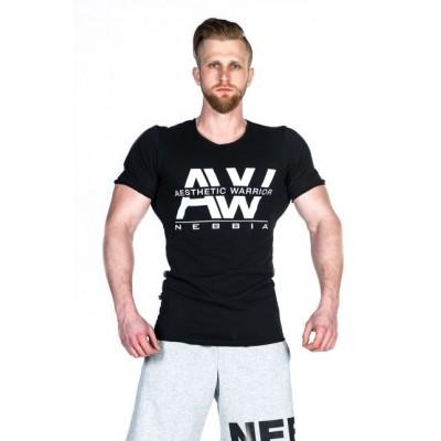 NEBBIA - Tričko pánske AW 127 (černá)