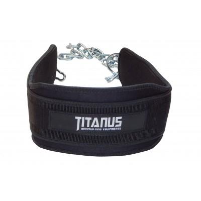 Titánus - pás s dopomocí s řetězem - Dip Belt